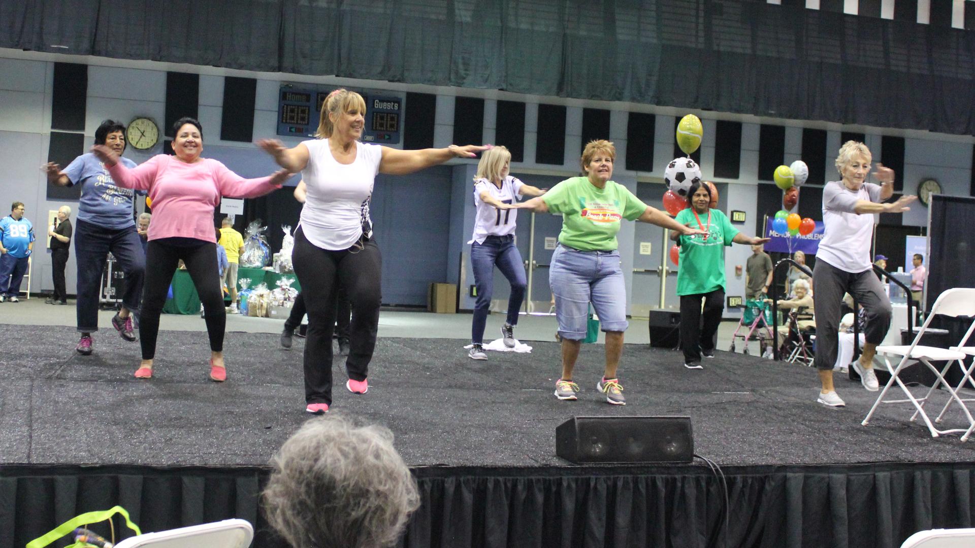 Aerobics demonstration
