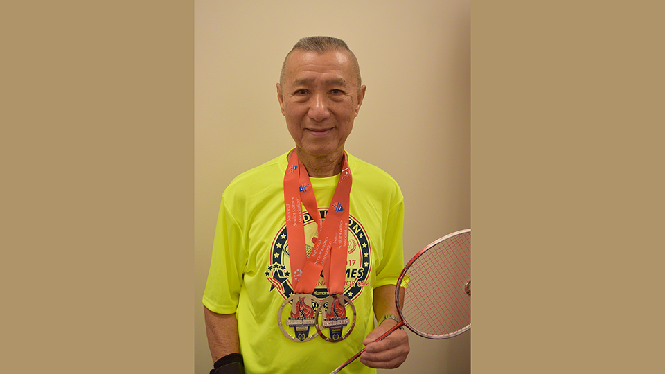 James Ho, badminton gold medal winner
