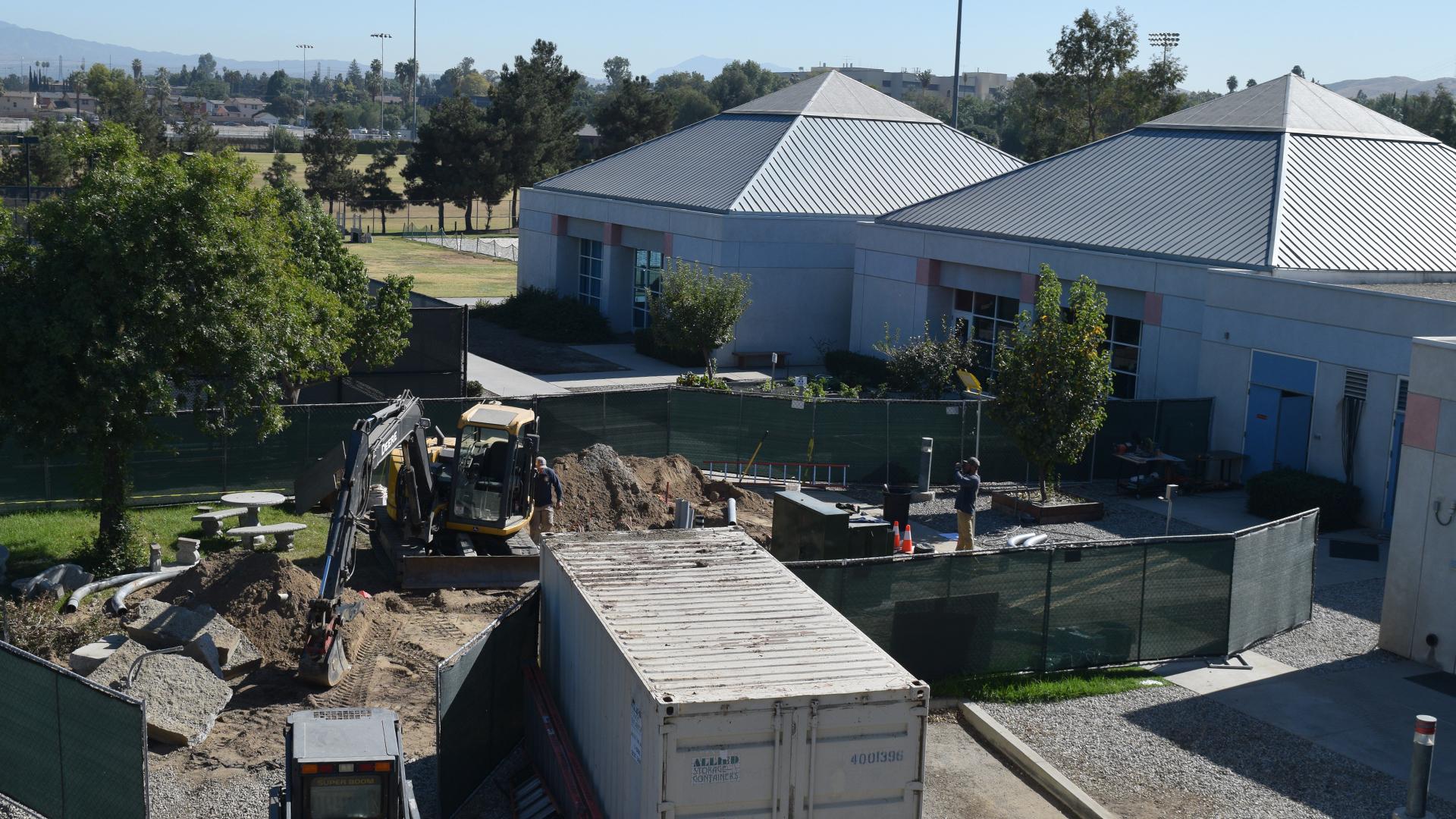 Preparing for Drayson Center's new backup generator