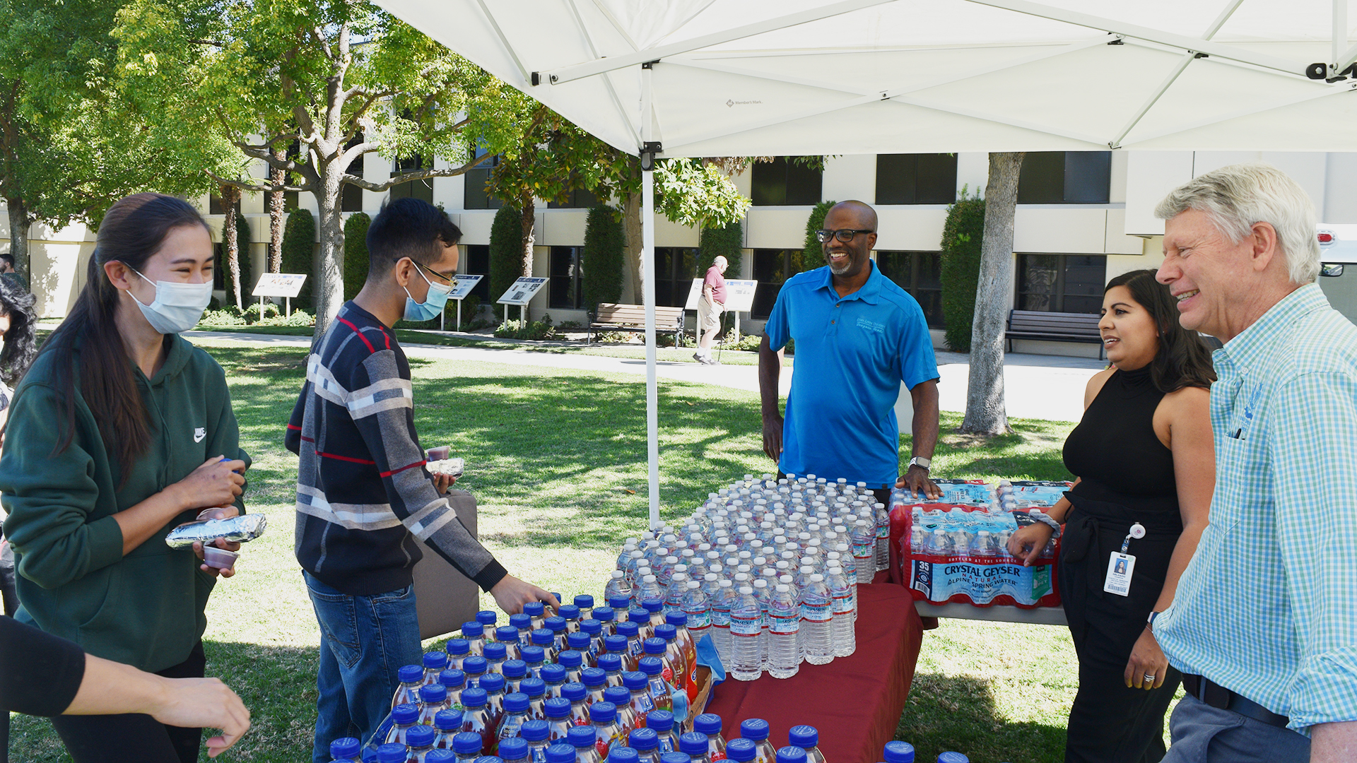 Drinks provided by Drayson Center for Lunch on the Lawn