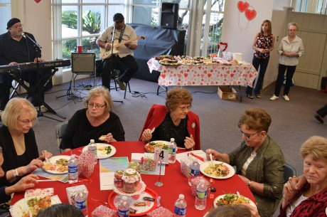 Annual Valentine's Potluck spells food, friendship, and fun for seniors